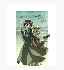 The Game is One - Sherlock Photographic Print