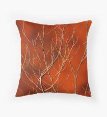 Organic Orange, Sticky Orange Design Throw Pillow