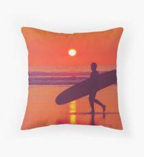 Surfer Sunset 1.0 Throw Pillow