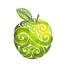 Swirly Apple by . VectorInk