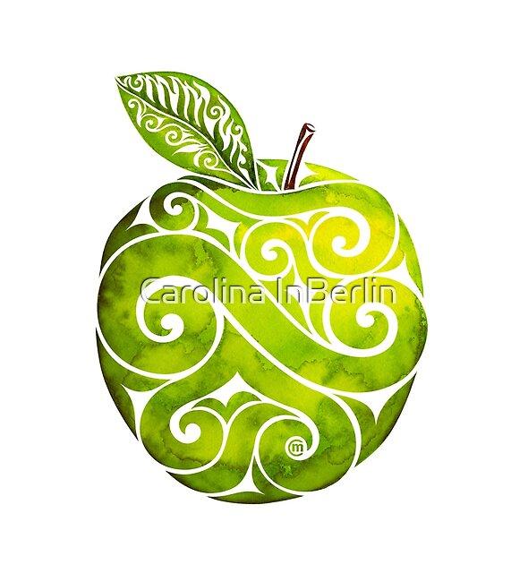 Swirly Apple by . VectorInk