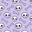 Cute Skulls // Purple by nikury