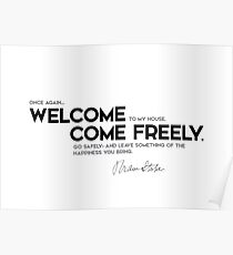 welcome, come freely - bram stoker Poster