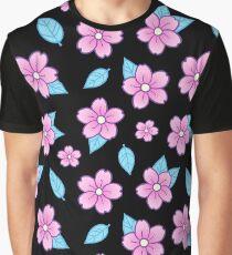 Sakura // Black Graphic T-Shirt