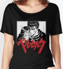 Guts with red japanese berserk logo Women's Relaxed Fit T-Shirt