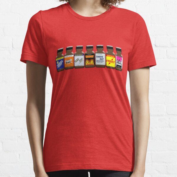 Poppers! Your Weekly Survival Kit. Essential T-Shirt
