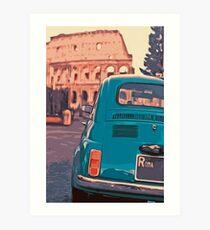 Italy, vintage panorama Art Print