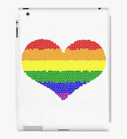 Regenbogen Herz Mosaik iPad-Hülle & Klebefolie