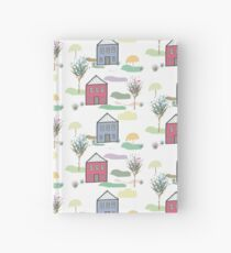 Houses and trees illustration Hardcover Journal
