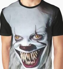 Halloween Clown Graphic T-Shirt