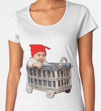 adorable beautiful baby boy in a basket Women's Premium T-Shirt