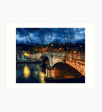 Rome, romantic nights Art Print