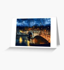 Rome, romantic nights Greeting Card