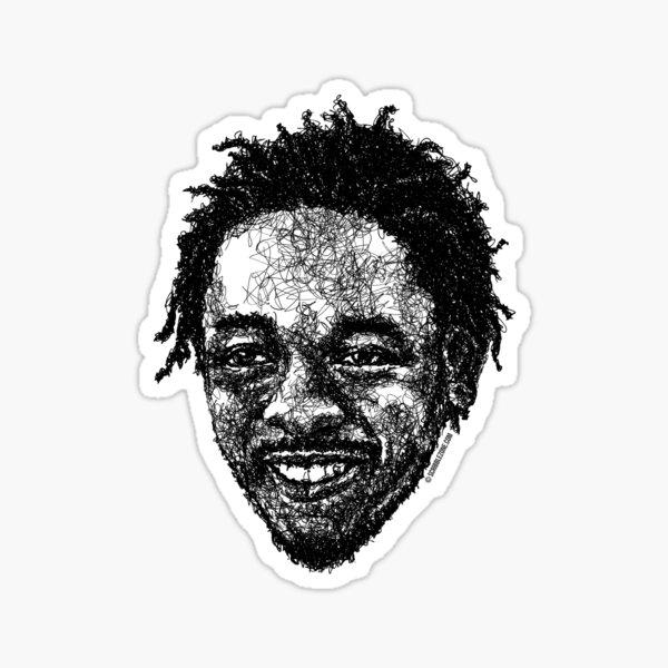 Scribbled King Kunta Sticker
