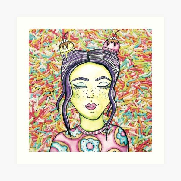 Candy Ice Cream Girl by Jayne Kitsch Art Print