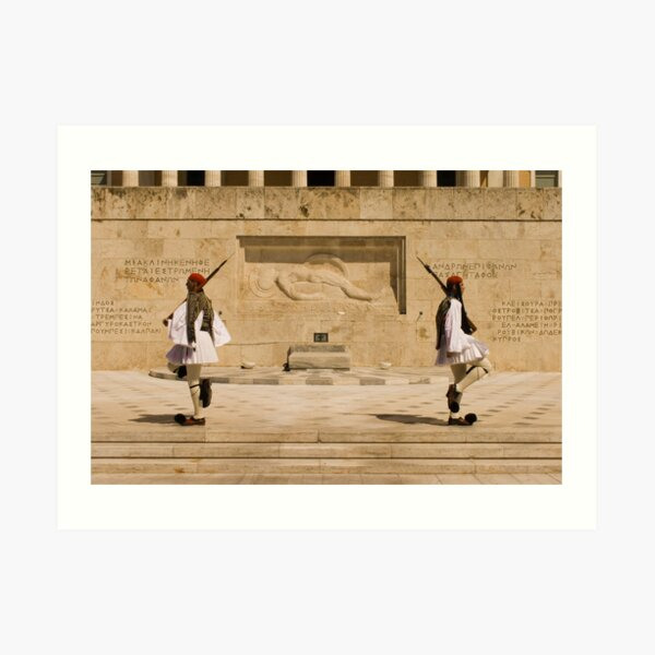 Changing of the Evzones in Athens Art Print