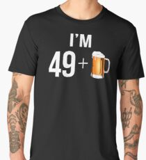 Funny 50th Birthday 50 Year Old Beer Lovers Gift Men's Premium T-Shirt