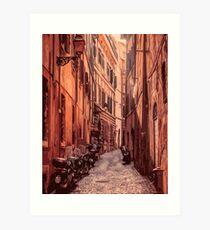 Italy, streets of Rome Art Print