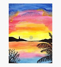 Watercolor dream of vacation Photographic Print