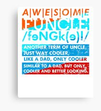 Vintage retro Awesome funcle teeshirts Canvas Print