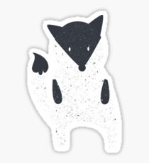 Cute fox with texture illustration Sticker
