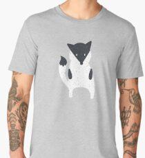 Cute fox with texture illustration Men's Premium T-Shirt