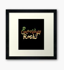 Geology Rock Framed Print