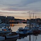 Whitby Harbour at Night by dougie1
