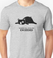 Maximum Call Stack Size Exceeded - Programming Unisex T-Shirt