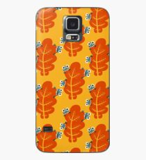 Cute Bugs Eating Autumn Leaves Case/Skin for Samsung Galaxy