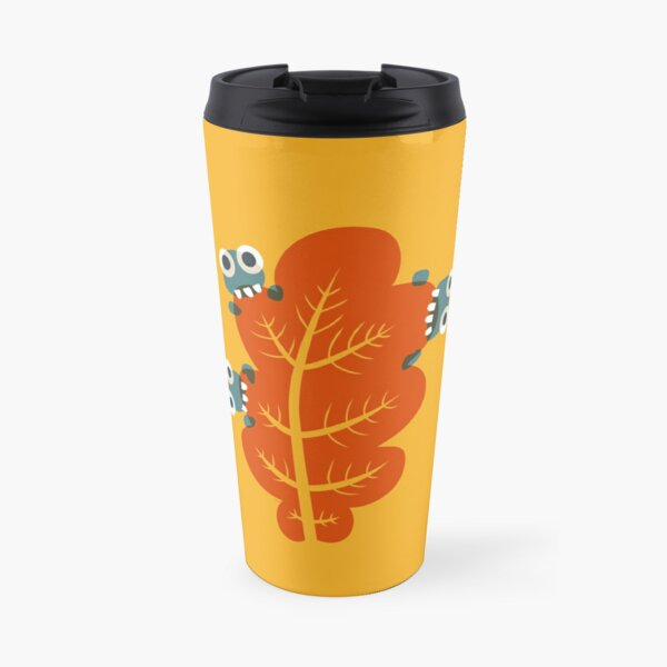 Cute Bugs Eating Autumn Leaves Travel Mug