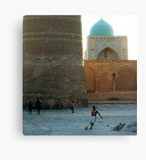 Football in Bukhara Canvas Print