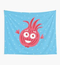 Cute Red Onion #digistickie Wall Tapestry