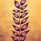 Purple Abstract Plant by Boriana Giormova