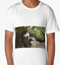 stream, cascade water long exposure Long T-Shirt