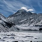 Aoraki/Mt Cook above Hooker Lake by Charles Kosina