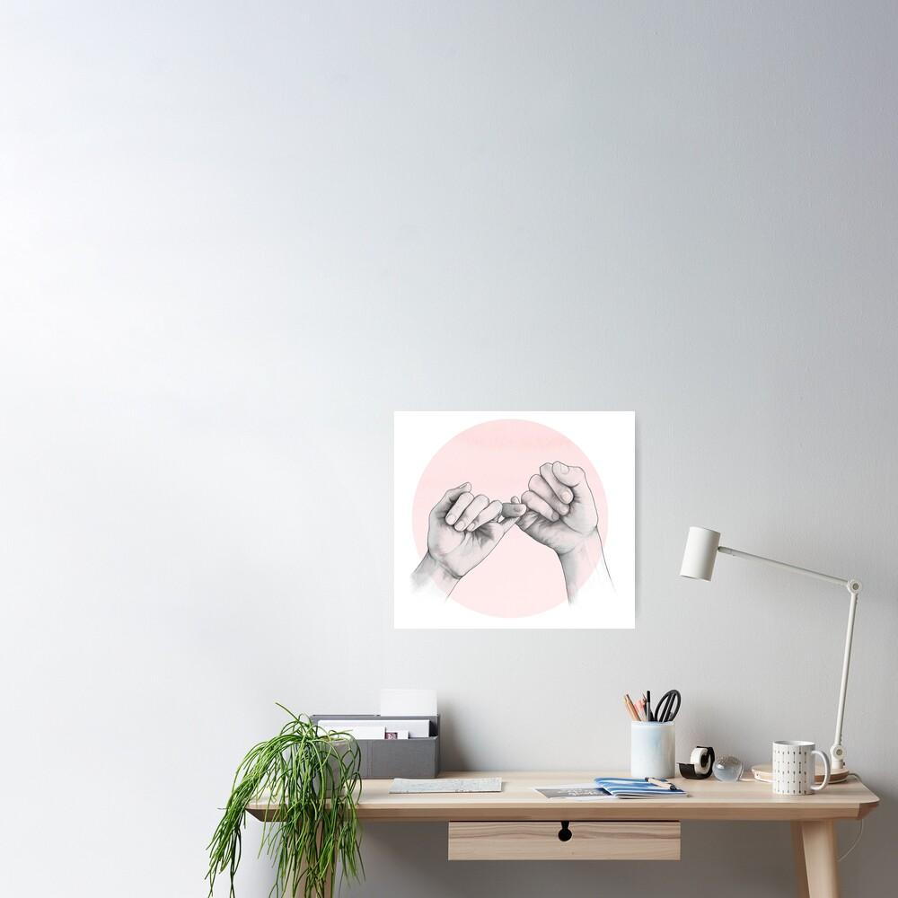 pinky swear // hand study Poster