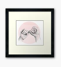 pinky swear // hand study Framed Print