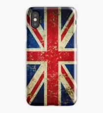 Grunge Union Jack - Scratched Metal Effect iPhone Case/Skin