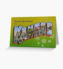 Seasons Greetings from Kansas Greeting Card