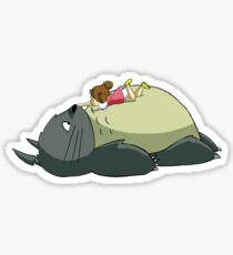 Totoro Sleeping Sticker