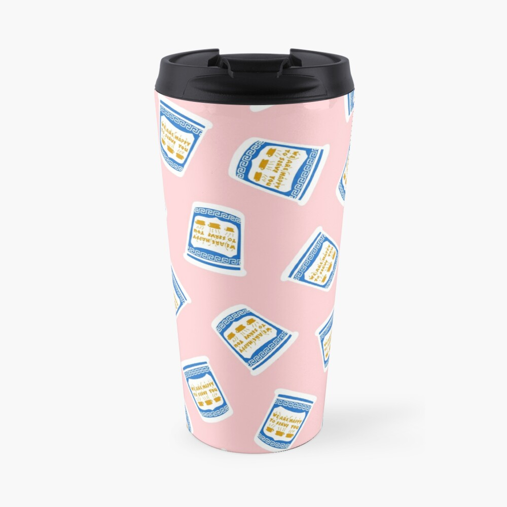 New York Deli Coffee Pattern Travel Mug