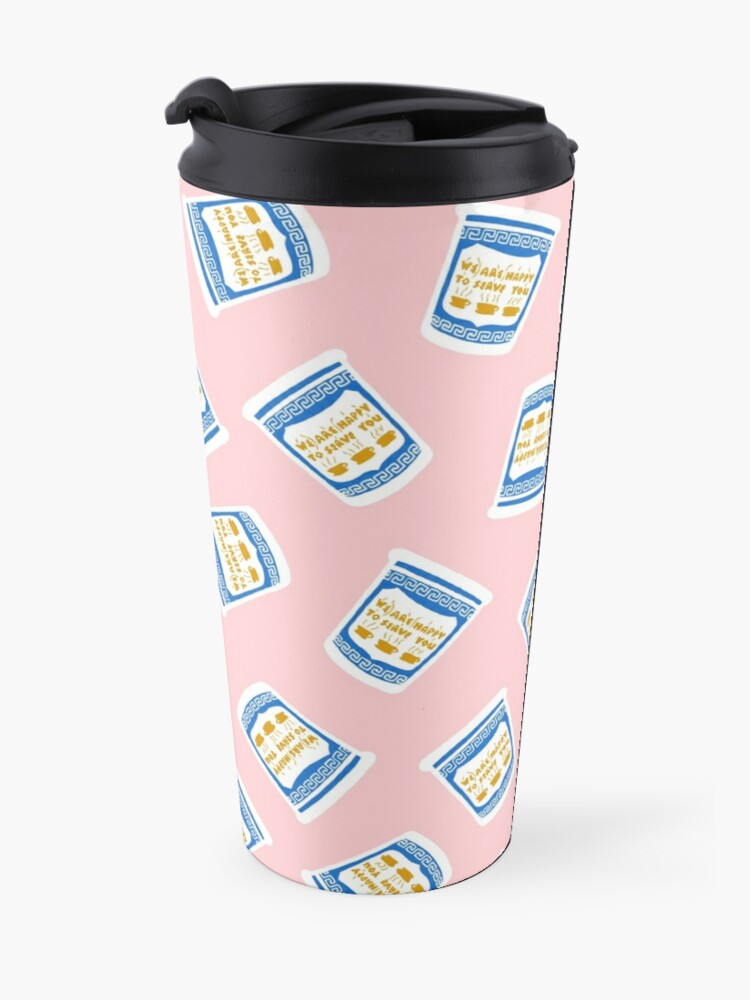 Alternate view of New York Deli Coffee Pattern Travel Mug