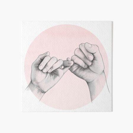 pinky swear // hand study Art Board Print