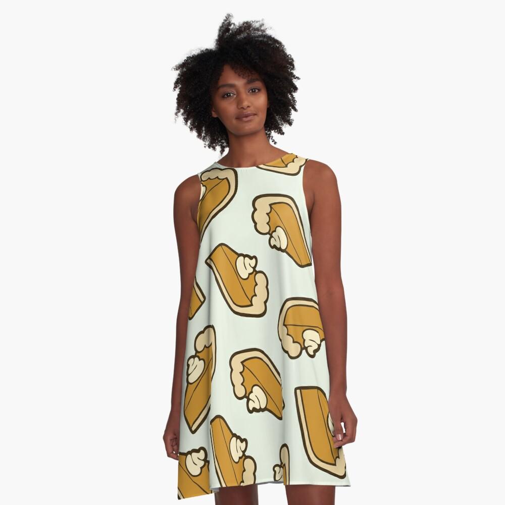 Pumpkin Pie Pattern A-Line Dress Front