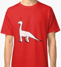 The Quizzical Dinosaur (solid white) Classic T-Shirt