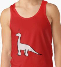 The Quizzical Dinosaur (solid white) Men's Tank Top