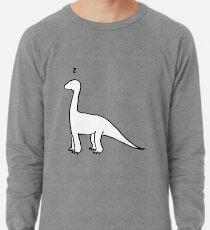The Quizzical Dinosaur (solid white) Lightweight Sweatshirt