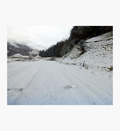 The back route  from Fort William to Ballchulish Photographic Print