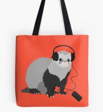 Funny Musical Ferret Tote Bag